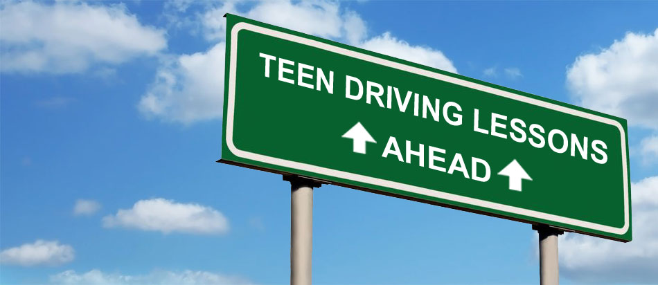 teenager driving lessons